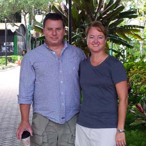 Travel nurse Tina Stines and her husband, Doug