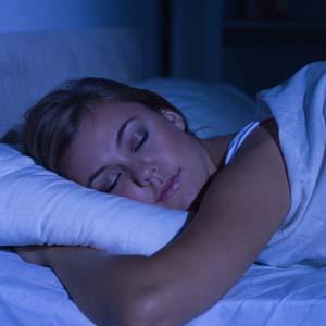 Travel nurse sleeping after night shift