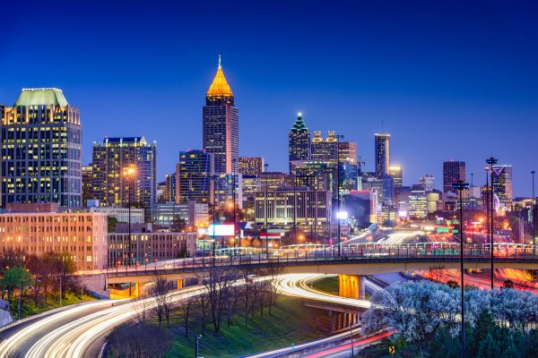 travel nursing locations - 15 places to see before you die - image of atlanta skyline