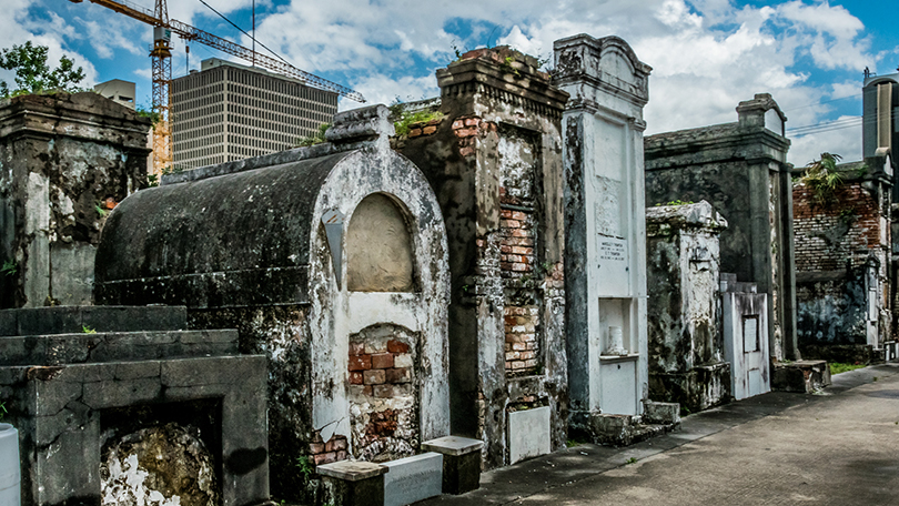 Cemetery in New Orleans, Louisisana