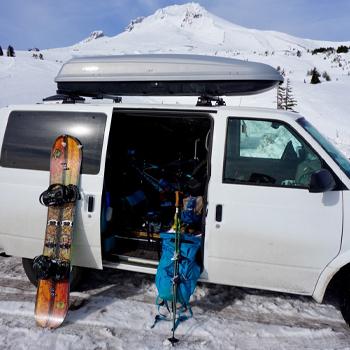 Astro van and outdoor dear