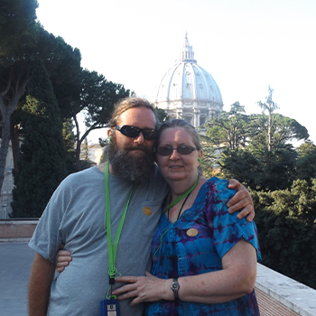 married travel nurse and husband
