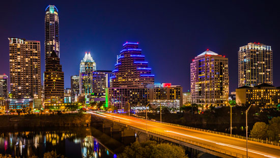 Cityscape of Austin Texas