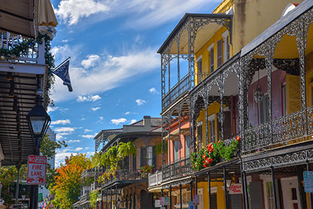 Traditional buildings in New Orleans