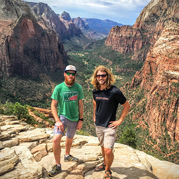 Rock climbing buddies
