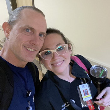 ICU travel nurses David and Starla Fincher