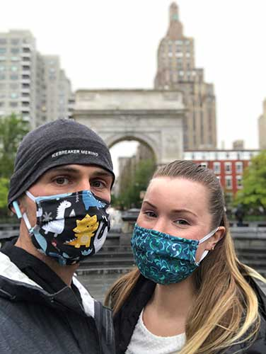 Jessica Frates and Istok Miralem,in New York city