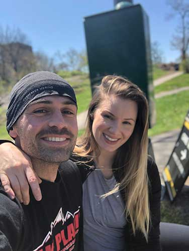 Jessica Frates and Istok Miralem,