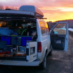 A van packed with travel nurse must-haves