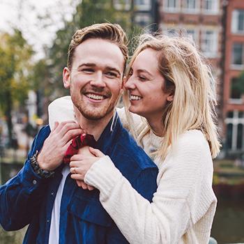 Travel nurse Luke Frey and his fiancee