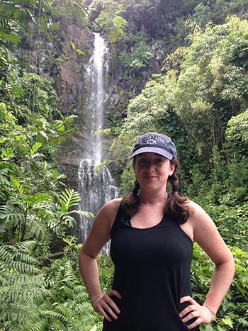 Kelly and Oahu waterfall