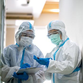 Nurses in full PPE