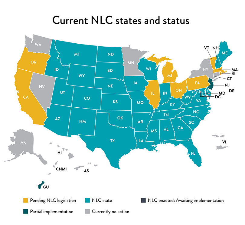 NLC states map as of 6/7/2021