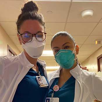 Jovita Santoyo and a colleague