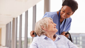 Nurse with patient giving tips for new travel nurses