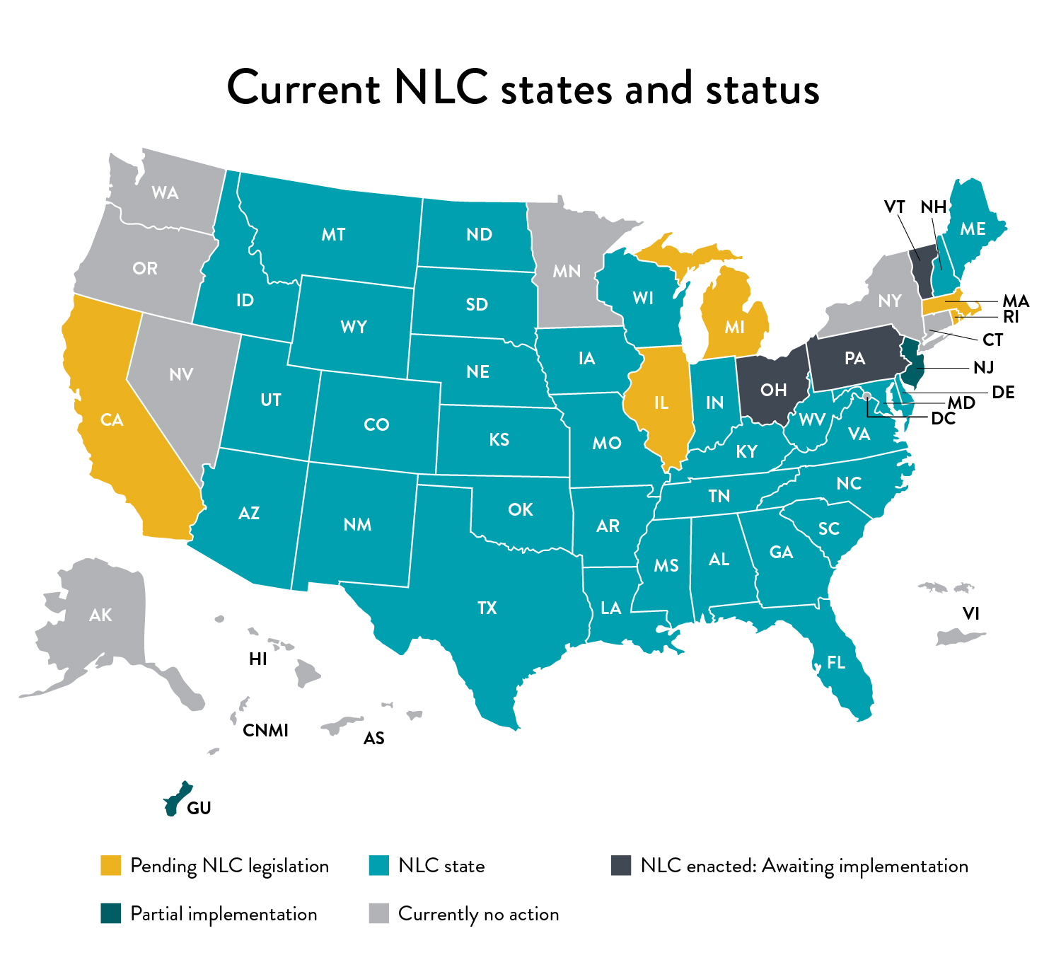 NLC states map as of 7/2/2021