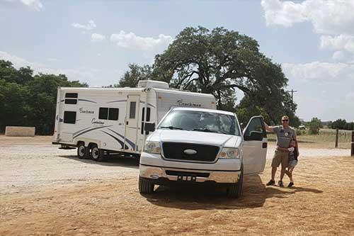 Truck and camper